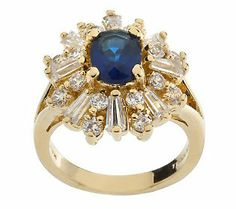 Jacqueline Kennedy Starry Night Simulated Sapphire Ring — $57.36 QVC.com