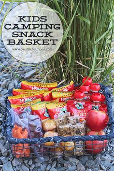 Kids Camping Snack Basket - Over The Big Moon