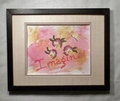 Inspirational painting original art by EnchantedRoseProduct, $9.50