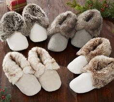 Faux Fur Booties **This is an affiliate link. Pottery Barn, Fluffy Shoes, Cozy Winter Outfits, Slipper Boots, Spa Treatments, Girl Day, Material Girls, Fur Trim, Zapatos