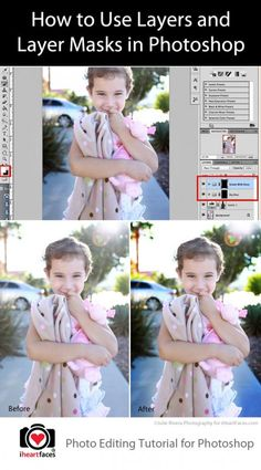 How to Use Layers and Layer Masks in Photoshop by Julie Rivera Photography for iHeartFaces.com