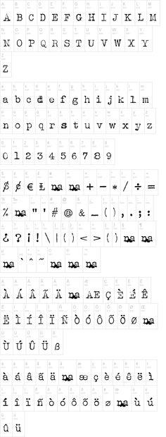 fonte Albertsthal Typewriter - máquina de escrever                                                                                                                                                                                 Mais