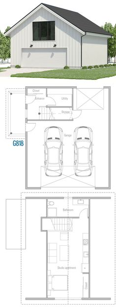 Garage Plans, Home Plans, Floor Plans Garage Floor Plans, Small House Floor Plans, Best House Plans, Modern House Plans, Small House Layout, House Layouts, Modular Home Plans, Garage Apartment Plans, Architectural House Plans