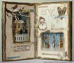 Stamping A to Z: Altered Book by Anna-Karin (A-K), via Flickr