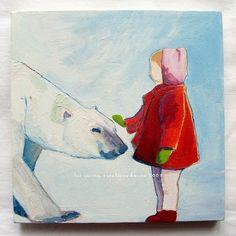 Girl and polar bear
