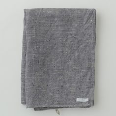 Linen Chambray Towels: Navy