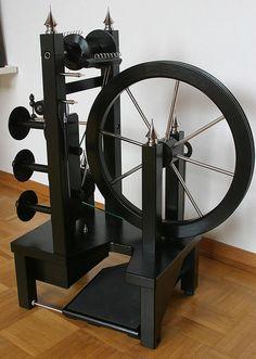 Amazing handmade spinning wheel!
