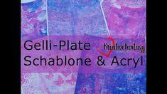 Gelli Plate: Schablonen und Acrylfarben Teil 1 #KreativeFantasy Fantasy, Movie Posters, Stencils, Shoulder, Film Poster, Fantasy Books, Fantasia, Billboard, Film Posters