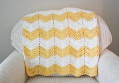 Chevron Baby Blanket - Crochet