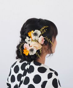 a pretty floral updo