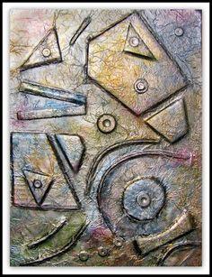 abstrakte Folienkunst
