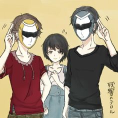 Zankyou no Terror fan art: Terroristic Trio