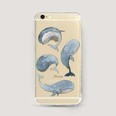Effacer iPhone cas de baleines clair iPhone 6 cas par MascotCase