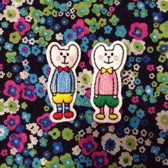 ハンドメイドマーケット minne(ミンネ)| 刺繍ブローチ:くまさん