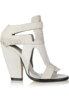 Leather and lizard-effect sandals by Camilla Skovgaard