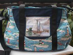 Schnabelina Bag, Leuchtturm, maritim von Bluebirdys Nest  auf DaWanda.com
