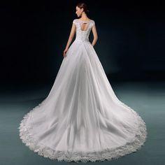 Xi Luosha bridal wedding Korean word shoulder straps trailing lace wedding dress 2015 new high-end