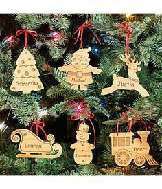 Personalized Wood Cut Out Ornament - Reindeer