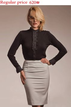 70% Off Women Black Shirt Black Blouse Women Blouse by brantattire
