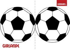 Tolle Fußballgirlande für Deine WM-Deko