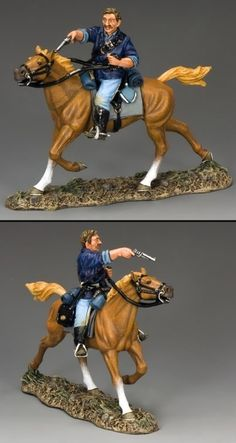 Custer's Last Stand TRW060 The Pistoleer - Made by King and Country Military Miniatures and Models. Factory made, hand assembled, painted and boxed in a padded decorative box. Excellent gift for the enthusiast.