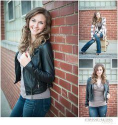 Gorgeous Senior Girl in Urban Style | Northern Illinois Senior Photographer | Senior Girl Pose | © Stephanie Hulthen Photography