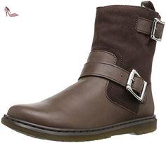 Dr. Martens Lydia, Boots mixte enfant - Noir (Black Burnished Wyoming), 28 EU (10 UK)