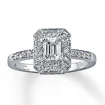 14K White Gold 1 Carat t.w. Diamond Engagement Ring.. I changed my mind I want this ring :) @Casey Sargent