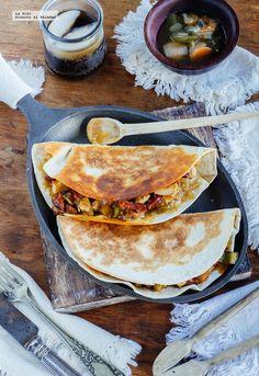Cocina – Recetas y Consejos Mexican Dishes, Mexican Food Recipes, Vegetarian Recipes, Cooking Recipes, Healthy Recipes, Ethnic Recipes, Mexican Meals, Healthy Food, Tacos And Burritos