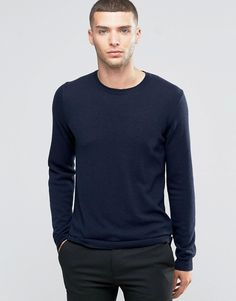 Navy Sisley  Knit pullover  for men