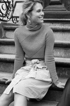 Sabrina Meijer (afterDRK) wearing Carven and Weekday, by Manon Klaver.