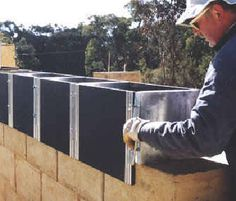 I like this system of pouring solid walls. It is made in Australia and is called Formblock.