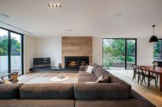 Nappali kandallóval - nappali ötletek, modern stílusban