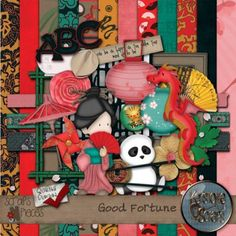 Love this China themed kit. Gorgeous papers and fun, unique elements!