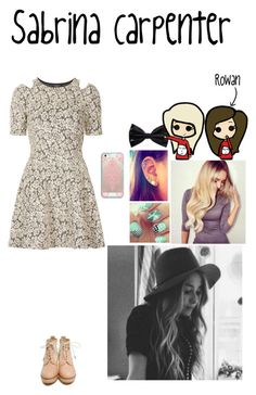 Sabrina Carpenter by pretty-reject on Polyvore featuring polyvore, fashion, style, Topshop, rag & bone, Casetify and Forever 21