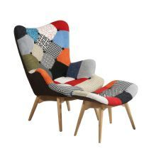 Poltrona FREATHER e PUFF PATCHWORK
