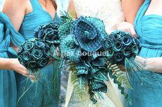 Wedding set in turquoise woven flax flowers. A flax bouquet. Wedding Ideas Nz, Wedding Goals, Wedding Sets, Wedding Inspiration, Wedding Stuff, Blue Wedding, Wedding Things, Flower Corsage, Flower Bouquet Wedding