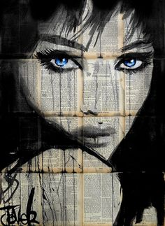 Loui Jover Debbye Reis Collection Dessin Art t Art Street Art, Newspaper Art, Drawn Art, Human Art, Arte Pop, Portrait Art, Portraits, Beautiful Artwork, Collage Art