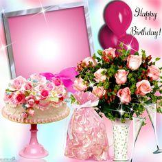 Birthday Card With Photo, Happy Birthday Wishes Photos, Birthday Photo Frame, Happy Birthday Frame, Birthday Frames, Birthday Board, Happy Birthday Cards, Birthday Greeting Cards, Birthday Greetings