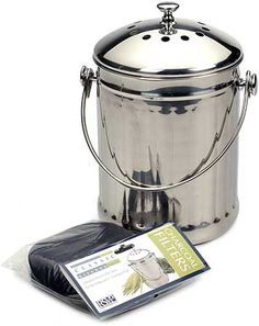 Superbe Brushed Stainless Steel Compost Pail U0026 Indoor Kitchen Scrap Collection Bin  | Pinterest | Compost Pail, Brushed Stainless Steel And Composting