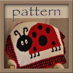 PATTERN Ladybug Afghan Blanket - Crochet - Instant Download