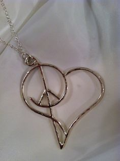 Sterling Silver Necklace- Peace, Love, & Harmony  - Valentine by CopperfoxGemsJewelry on Etsy