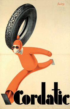 Cordiatic ad by Róbert Berény, 1927 or 1929 Source: A modern magyar plakát… Bike Poster, Poster Ads, Advertising Poster, Graphic Posters, Vintage Advertisements, Vintage Ads, Vintage Posters, Vintage Travel, Budapest