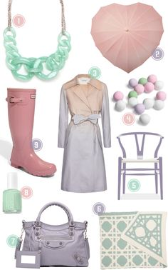 love the pastels!!!  want that umbrella too