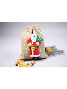 https://11ter11ter.de/11676038.html Jutesäckchen mit gedrucktem Weihnachtsmannmotiv #Weihnachten #Christmas #Weihnachtsmann #Jute #Sack #Santa #11ter11ter