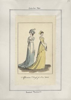Casey Fashion Plates Detail | Los Angeles Public Library Ladies' Museum Wednesday, October 1, 1800