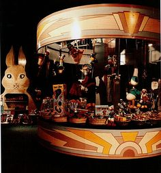 Carousel display unit at Big Biba's Children's dept...if I only had a store like this now...b♡