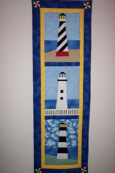 Lighthouse Paper Pieced Wall Quilt