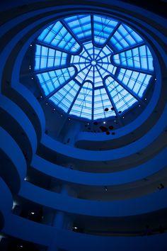 Blue like the sky Guggenheim, NYC fabforgothenno tumblr