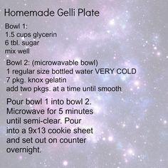 recipe for homemade gelli plate from art teacher Dustin Anderson